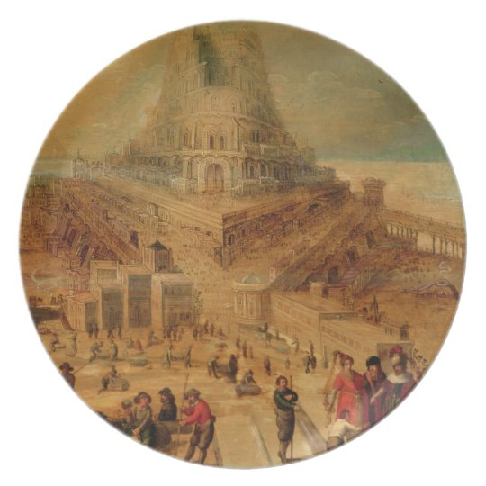 The building of the Tower of Babel (panel) Dinner Plate