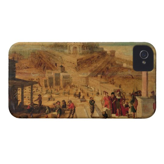 The building of the Tower of Babel (panel) iPhone 4 Cover