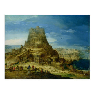 The Building of the Tower of Babel Postcard