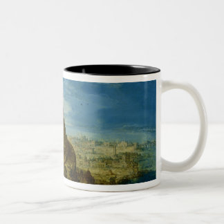 The Building of the Tower of Babel Two-Tone Coffee Mug
