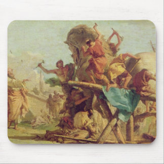 The Building of the Trojan Horse, c.1760 Mouse Pad