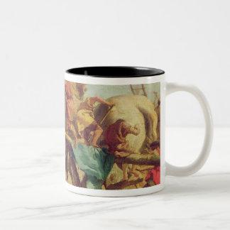 The Building of the Trojan Horse, c.1760 Two-Tone Coffee Mug