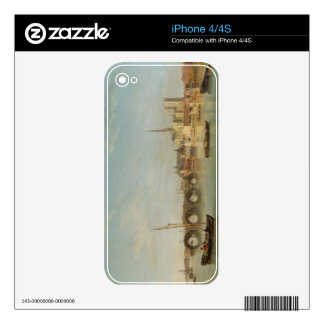 The Building of Westminster Bridge with an imagina Decal For iPhone 4