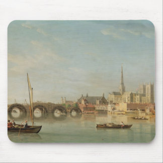 The Building of Westminster Bridge with an imagina Mouse Pad