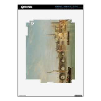 The Building of Westminster Bridge with an imagina Skin For iPad 3