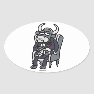 The Bull Father Oval Sticker