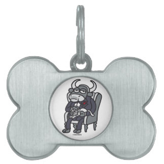 The Bull Father Pet Name Tag