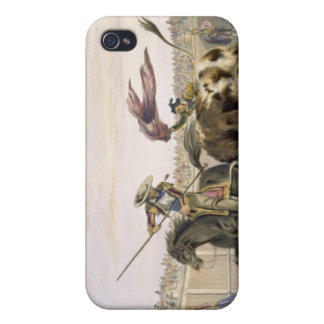 The Bull Following up the Charge, 1865 (colour lit Cover For iPhone 4