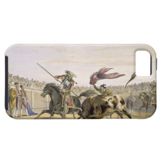 The Bull Following up the Charge, 1865 (colour lit iPhone SE/5/5s Case