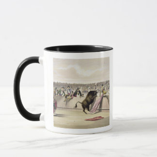 The Bull Leaping the Barriers, 1865 (colour litho) Mug