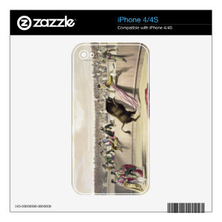 The Bull Leaping the Barriers, 1865 (colour litho) Skins For iPhone 4
