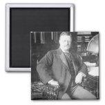 The Bull Moose Teddy Roosevelt Vintage 2 Inch Square Magnet