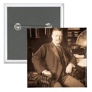 The Bull Moose Teddy Roosevelt Vintage Portrait Button