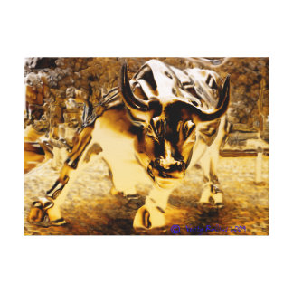 The Bull of Wall Street Canvas Print