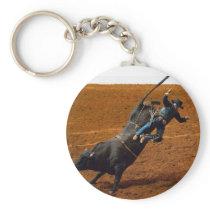 The Bull Rider Keychain