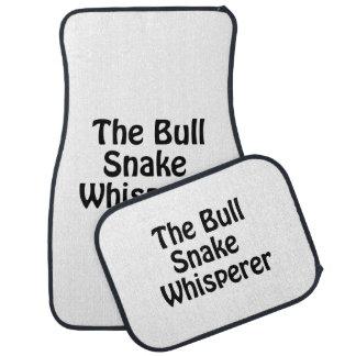 the bull snake whisperer floor mat