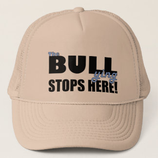 The Bull-ying Stops Here Blue Khaki Hat