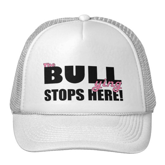 The Bull-ying Stops Here Pink Hat