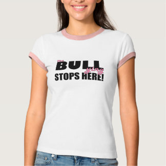 The Bull-ying Stops Here Pink T-Shirt