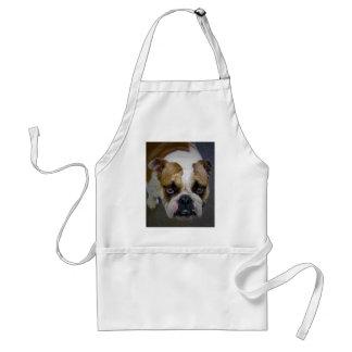 the bulldog adult apron