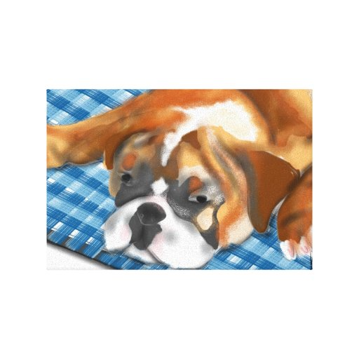 The Bulldog Puppy Gallery Wrapped Canvas