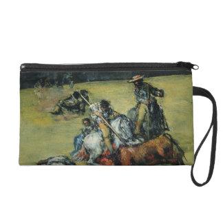 The Bullfight, c.1825 (oil on canvas) Wristlet Clutch