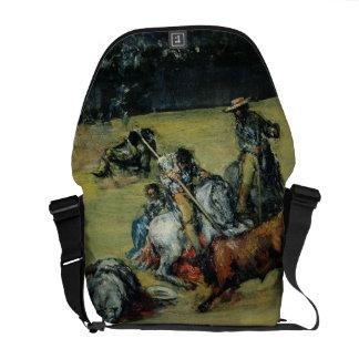The Bullfight, c.1825 (oil on canvas) Messenger Bags