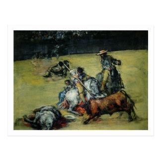 The Bullfight, c.1825 (oil on canvas) Postcard
