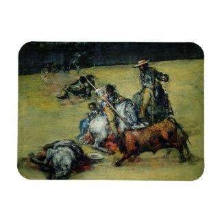 The Bullfight c 1825 oil on canvas Rectangular Magnet