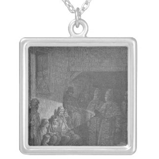 The Bull's-Eye, from 'London, a Pilgrimage' Silver Plated Necklace