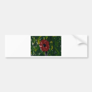 THE  BULLS EYE POPPY BUMPER STICKER
