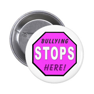 The Bullying Stops Here Pins