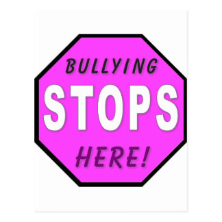 The Bullying Stops Here Postcard