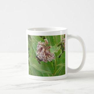 The Bumble Bee on The Milkweed Coffee Mug
