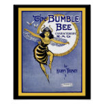 The Bumblebee Rag Vintage Sheet Music Cover Poster