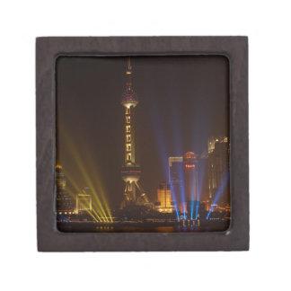 The Bund (waterfront) in Shanghai. Looking Jewelry Box