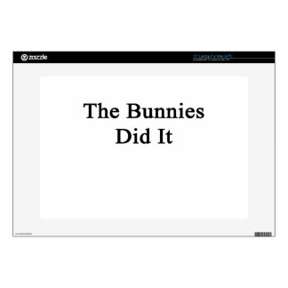 """The Bunnies Did It Decal For 15"""" Laptop"""