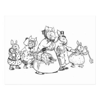 The Bunnies on Vacation Postcard