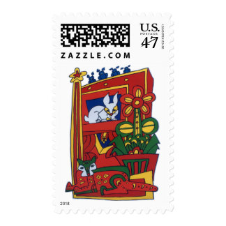The Bunny and the Cat Postage