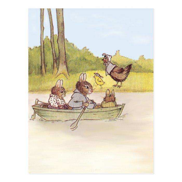 The Bunny Boys go Boating Postcard