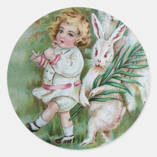The Bunny Frolic Classic Round Sticker