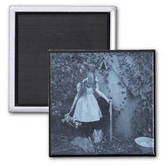 The Bunny Herder 2 Inch Square Magnet