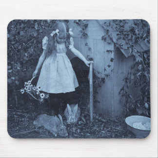 The Bunny Herder Mouse Pad