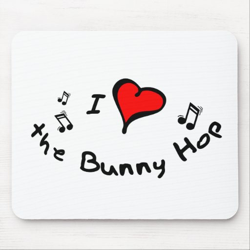 the Bunny Hop I Heart-Love Gift Mouse Pads