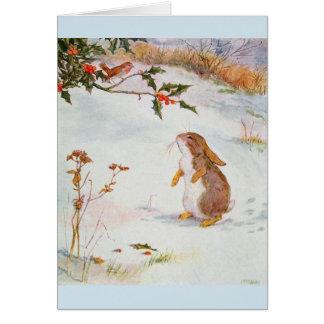 The Bunny Meets a Robin - Card