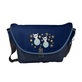 The bunny on the earth courier bag