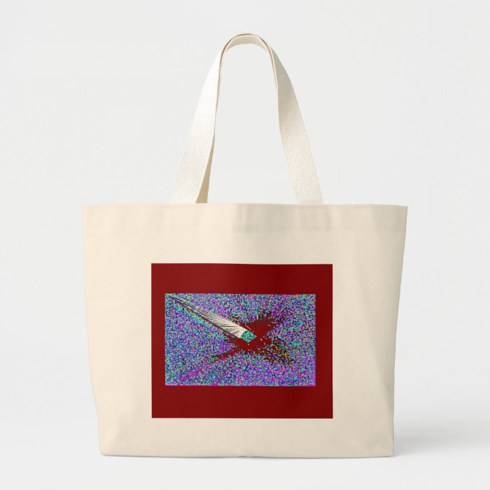 The Burgandy Coy Fish Large Tote Bag