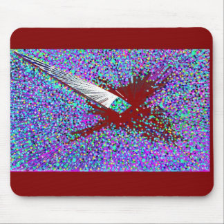 The Burgandy Coy Fish Mouse Pad