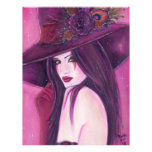 The Burgandy Witch halloween Flyers By Renee