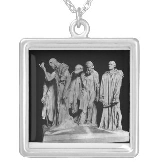 The Burghers of Calais, 1889 Silver Plated Necklace